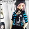 SD - AT003 - 검정&파랑의 줄무늬 T-셔츠