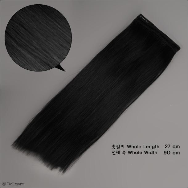 모헤어 직모 스트링 헤어 : Black (SM1)
