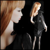 Fashion Doll Size : Tulip Dress (Black)-LE30