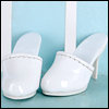 Fashion doll Size - Simple Mule (White)