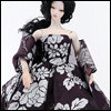 Fashion Doll Size : Violet Ebony Dress Set