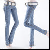 Fashion Doll Size : Basic Skinny Pants (Blue)