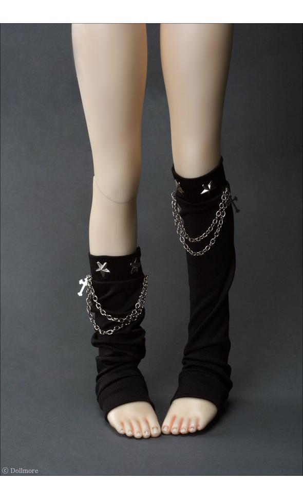 SD - Chain+Star Leg Warmer (Black)
