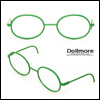 블라이스 Size - Round Steel Lensless Frames (Green)