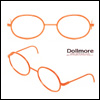 블라이스 Size - Round Steel Lensless Frames (Orange)