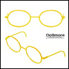 블라이스 Size - Round Steel Lensless Frames (Yellow)