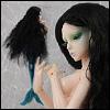 (7-8) Stardust Middle Mermaid Wig (Black)