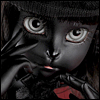 Catish Girl Doll - Melancholy ; Black Reaa - LE15