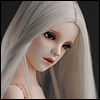 (13-14) Saerona Long Wig (Silver)