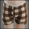 Dear Doll Size - Boy trunk span panties (Check Brown)