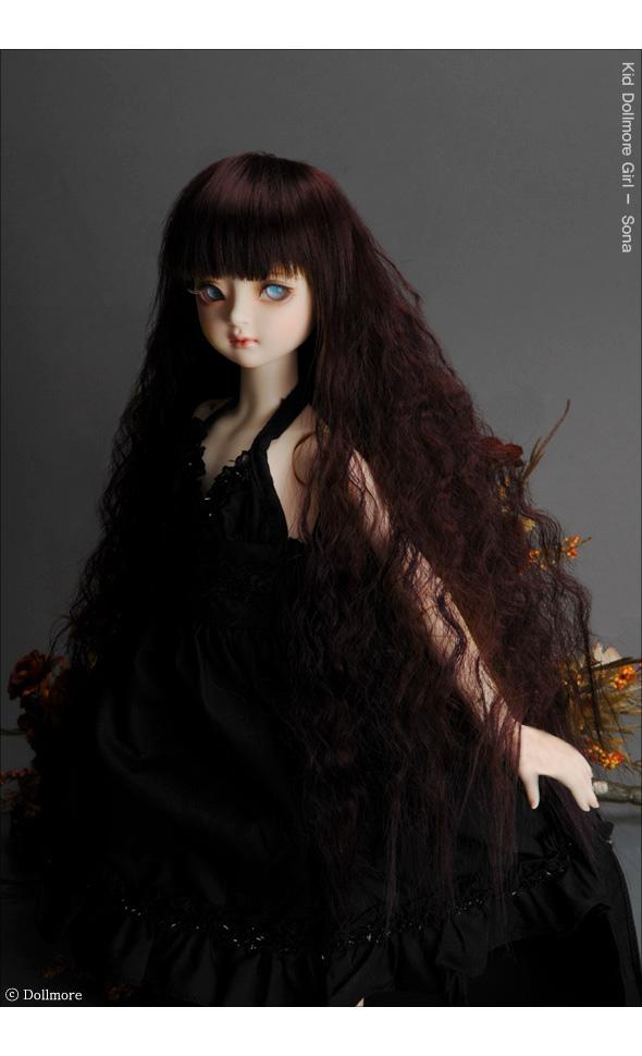 (7-8) Jermy Long Wig (Wine)