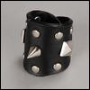 Model & MSD - BBOTT Stud Leather Bracelet (Black)