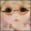 USD - Round Steel Lensless Frames Glasses (Gold)