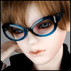 SD - Dollmore Lensless Sunglasses I (Navy)
