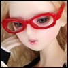SD - Dollmore Lensless Sunglasses II (Red)
