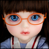 Mokashura Size - Round Steel Lensless Frames Glasses (Orange)