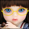 Mokashura Size - Round Steel Lensless Frames Glasses (Yellow)