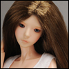 (3-4) Parting Straight Wig (Brown)