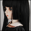 (7-8) Hime Long Wig (Black)