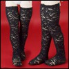 Lusion Doll - Chryffle Band Stockings (Black)