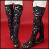 Lusion Doll - Rose Band Stockings (Black)