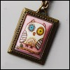 MSD & SD Size - Owl Pink Necklace (Gold)
