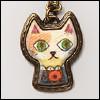 MSD & SD Size -  Surprised Cat Necklace (Entique Gold)