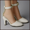 Fashion doll Size - Delightful Heels shoes (Cream)[C3]