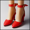 Fashion doll Size - Delightful Heels shoes (Red)[C3]
