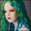 (13-14) Eldorado Parting Wig (Green)