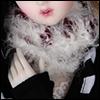 Model & MSD - Zhivago knit Muffler(White)