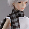 Model & MSD - Checked Double Scarf (Dark brown)