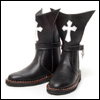 Model Doll Man Shoes - Cross Boots (Black)