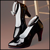 Trinity Doll - RM High Heel Shoes (Enamel Black)