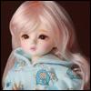 (6-7) Melrose Long Bang Wig (Pink)