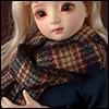 Model & MSD - Check Woollen Muffler (Brown)