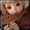Model & MSD - Drizzly Knit Muffler (Ocher)