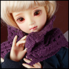 Model & MSD - Drizzly Knit Muffler (Violet)
