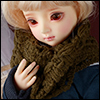 Model & MSD - Drizzly Knit Muffler (Khaki)