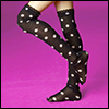 MSD - Dot Knee Stocking (Black)