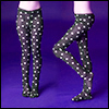 MSD - Dot Panty Stocking (Black)