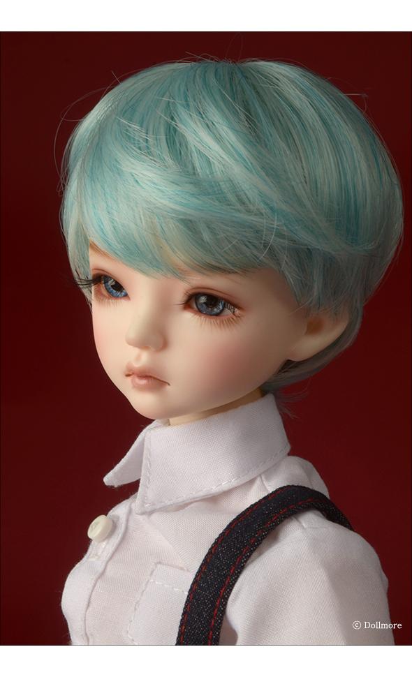 (7-8) Zeke Short Cut Wig (Blue)
