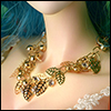 MSD & SD Size - Lot Leaf Necklace (Gold)
