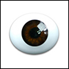 10mm Oval Real Type PaperWeight Glass Eyes - Brown