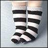 Bebe Doll Size - Meme Socks (Stra Black)