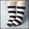 Bebe Doll Size - Meme Socks (Stra Black)