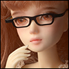 12inch doll -  Shape Steel Lensless Frames Glasses (Black)