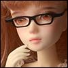 12inch doll -  Shape Steel Lensless Frames Glasses (Black)