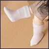 Bebe Doll Size - Hehe Socks (White)