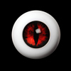 26mm - OMeta Half Round Acrylic Eyes(D.Red 08)